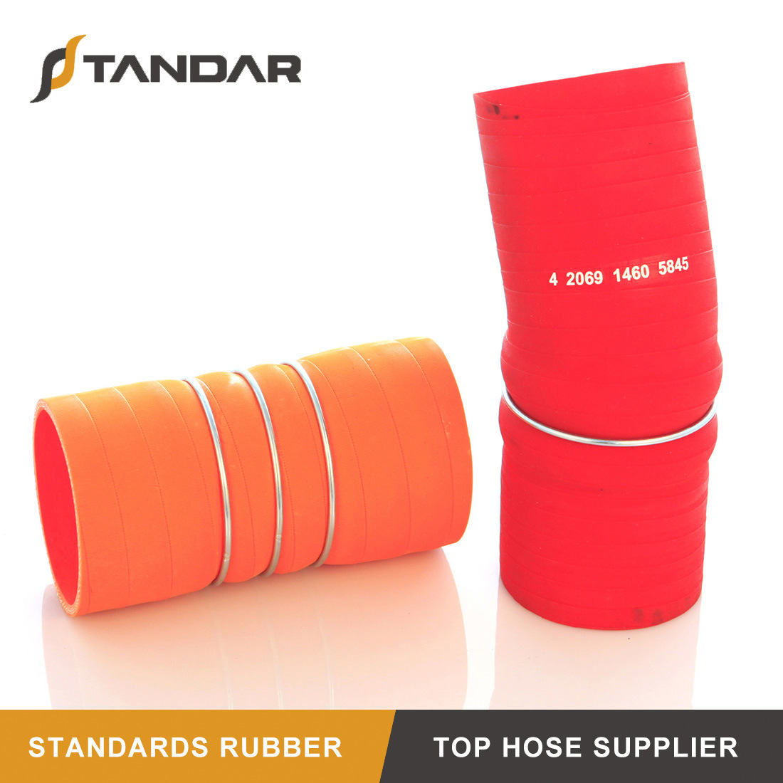 High Temp Aramid Silicone Charge Air Cooler HOT Hose 7 1//2 Orange 2 3//4 70mm