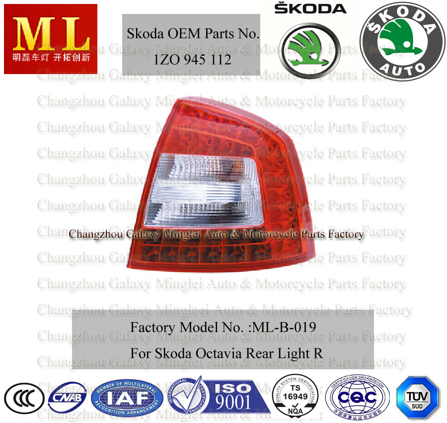 Tail Lamp for Skoda Octavia (OEM Parts No.: 1Z0 945 112)
