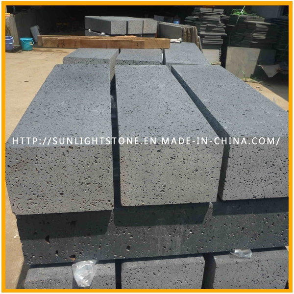 Volcanic Stone /Lava Stone, Natural Lava Grey Hole Basalt Tiles pictures & photos