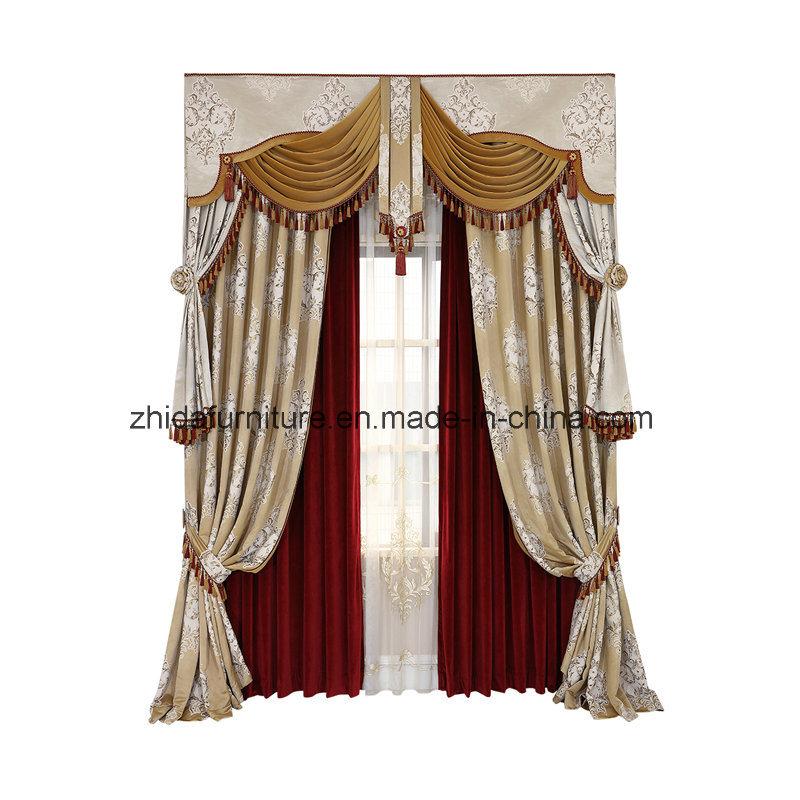 China European Luxury Velvet Fabric Curtain Home Textile