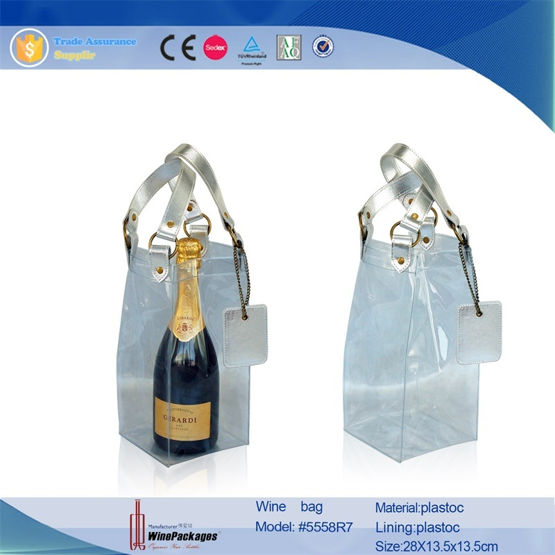 Wholesale Leather Gift Bag with Clear PVC Plastic Bag pictures & photos