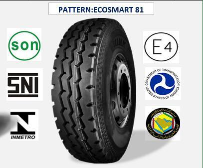 All Steel Radial Truck & Bus Tires with ECE Certificate 10.00r20 (ECOSMART 81)