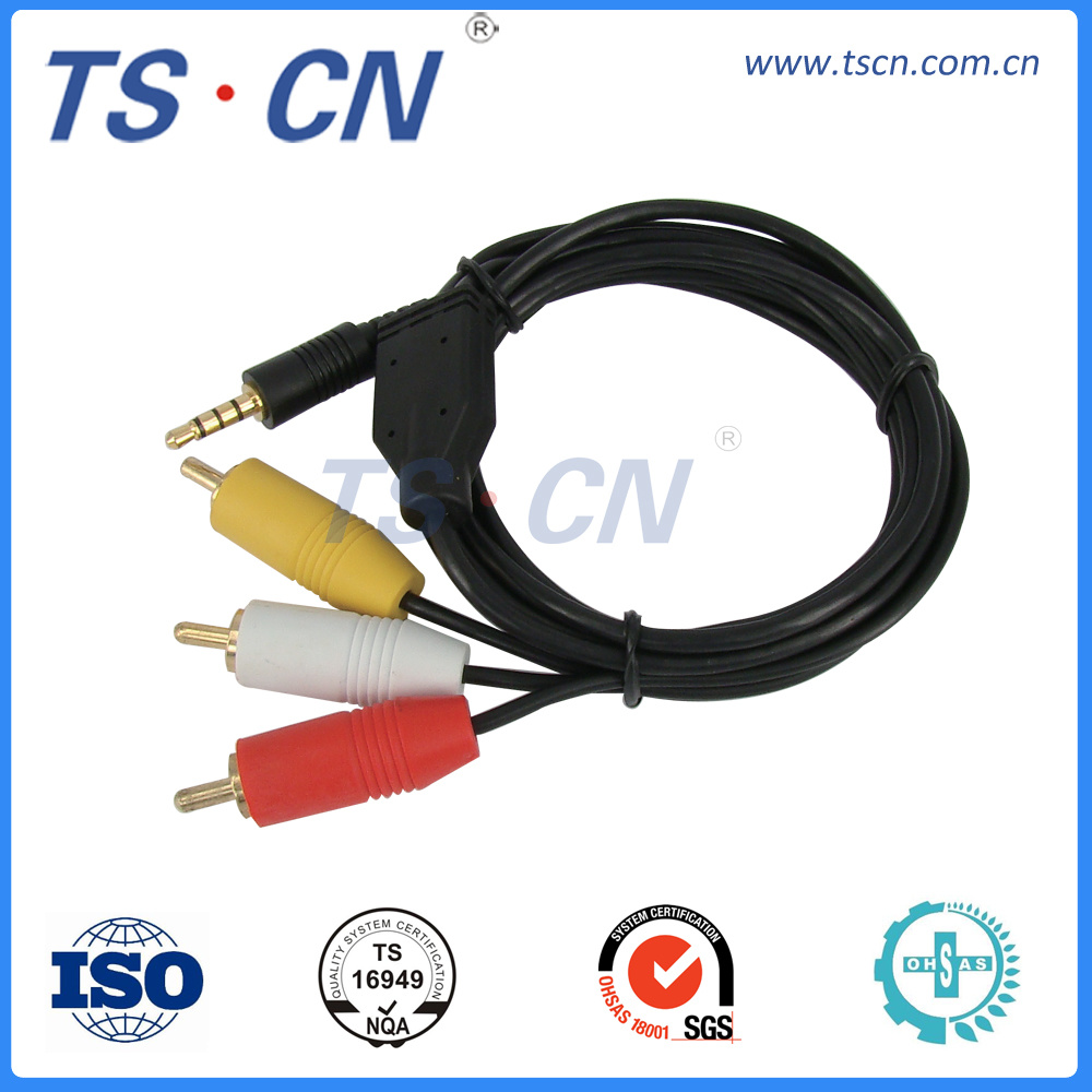 China 3.5mm RCA Male Audio Video Automotive Wire Cable Harness Assembly -  China Wire Harness, Cable Harness