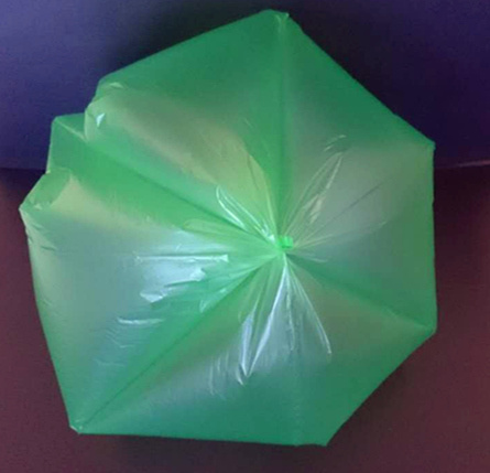 Red Star Seal Plastic Garbage Bag