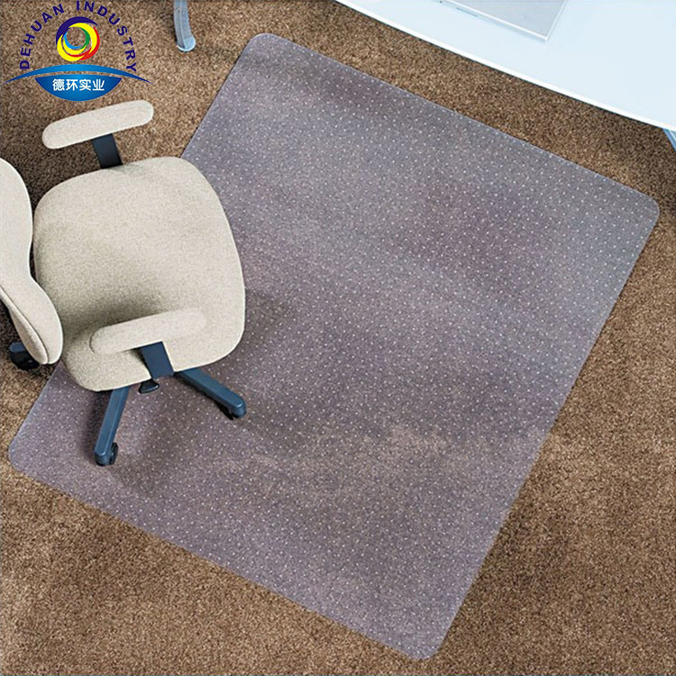 Clear PVC Carpet Protector Office Chair Plastic Floor Mat Home