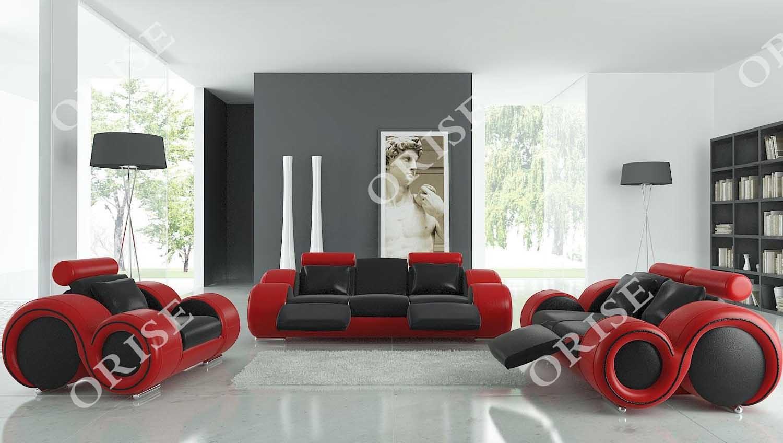 Hot Item Genuine Leather Special Design Modern Recliner Sofa Set For Livingroom