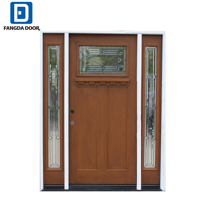 China Main Entrance Wooden Door Design Fiberglass Door China Main