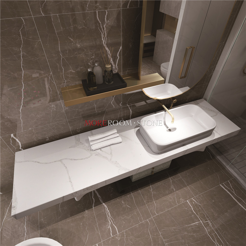 China Custom Engineered Quartz Bathroom