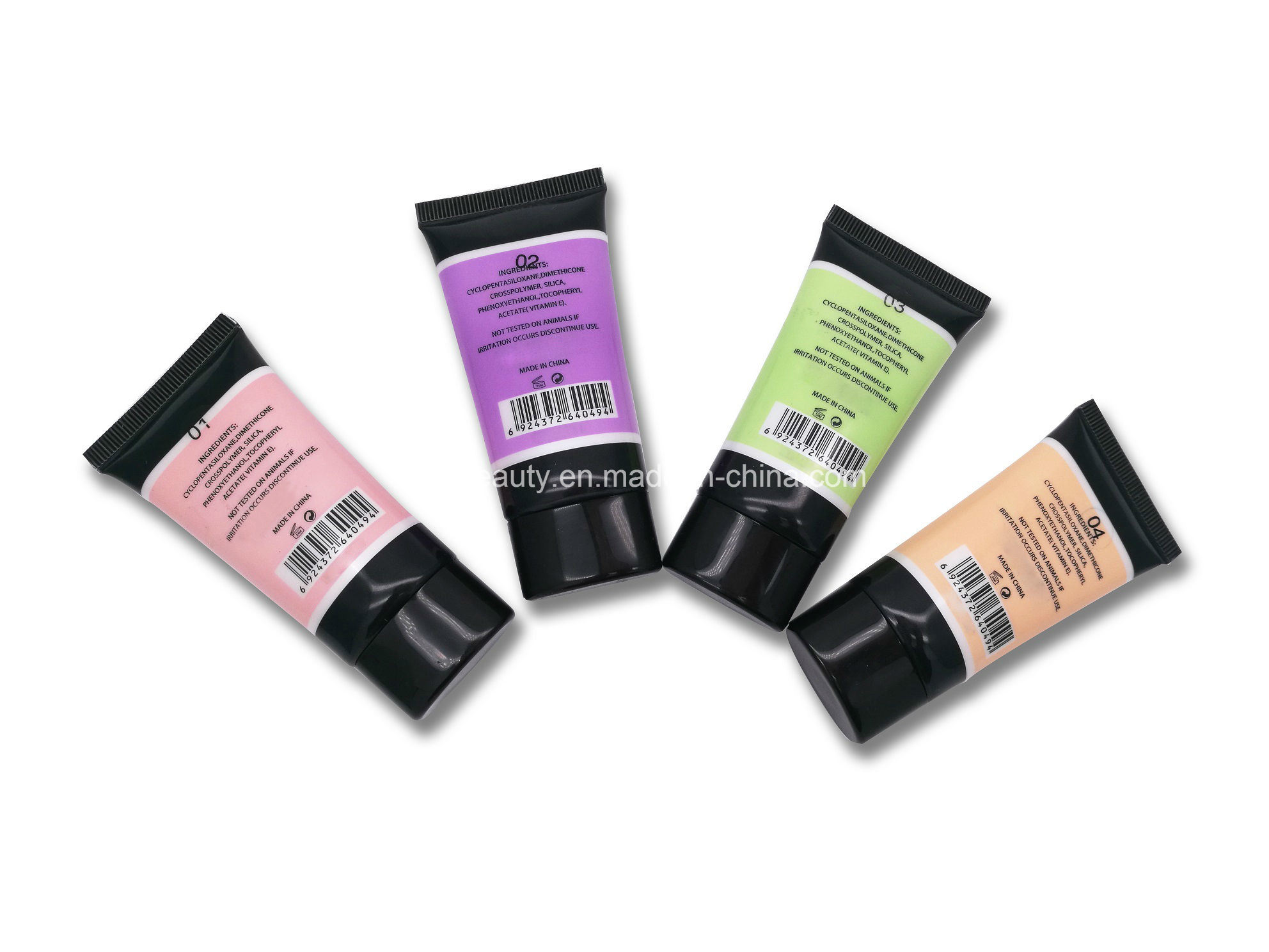 Hot Selling High Quality 4 Different Color OEM/ODM Reasonable Price Smoothing Face Primer with High Definition