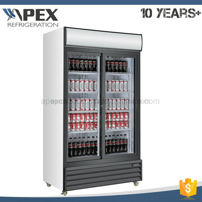 Double Swing Doors Upright Commercial Beverage Display Cooler with Ce, CB ETL Approved pictures & photos