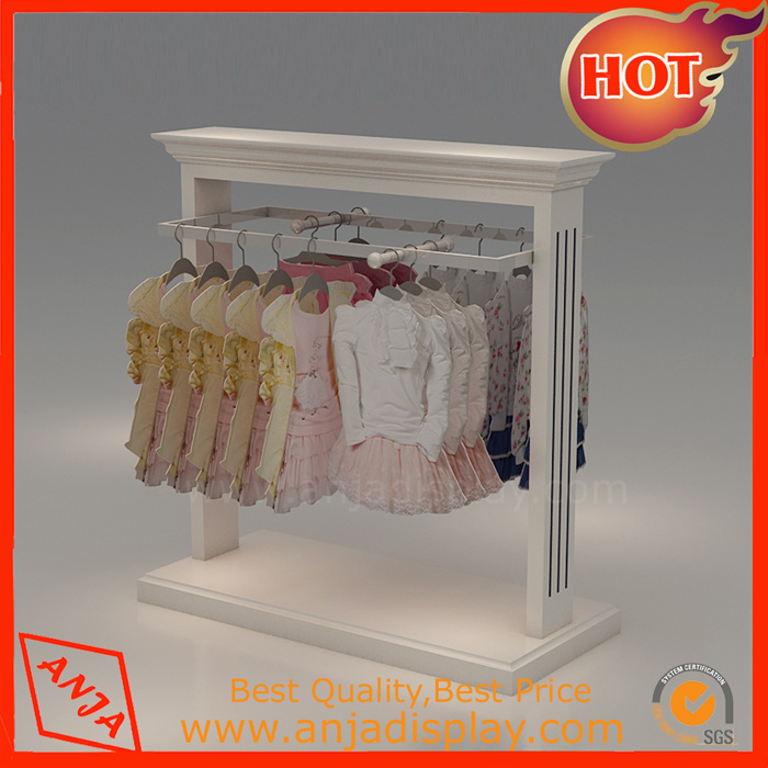 High Clical Commercial Wooden Clothing Racks Standing For