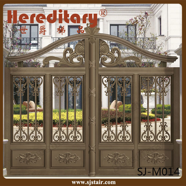 Indian House Decorative Automatic Sliding Aluminum Entrance Gate pictures & photos