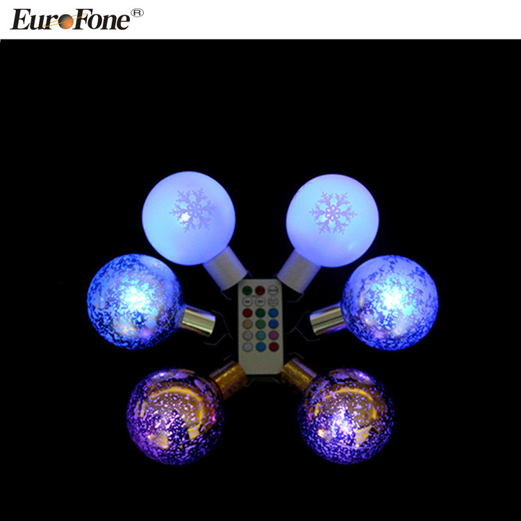 Hot Item Christmas Ornaments Outdoor Led Christmas Light Ball Changing Color