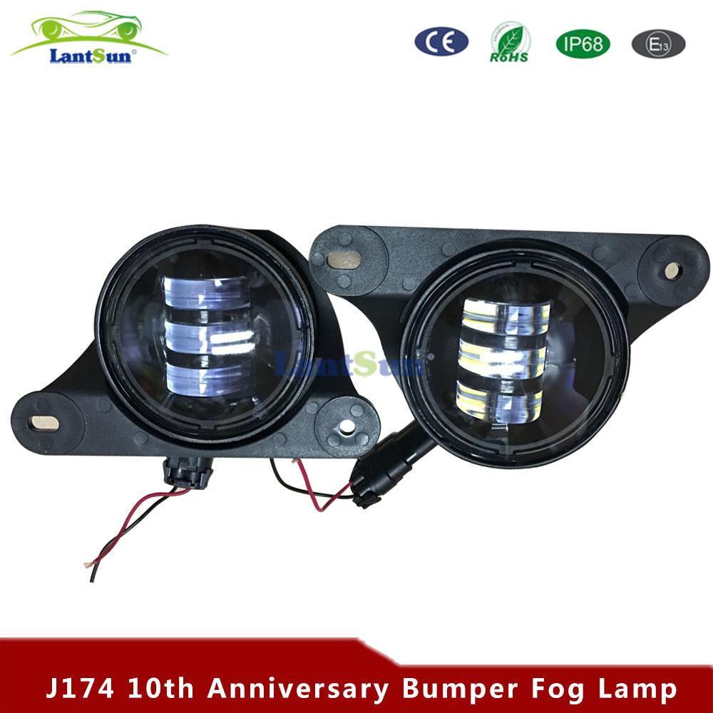 China 4 Inch 30w 6500k Led Fog Lights For Jeep Wrangler Jk 10th Aninnversary Front Bumper Light