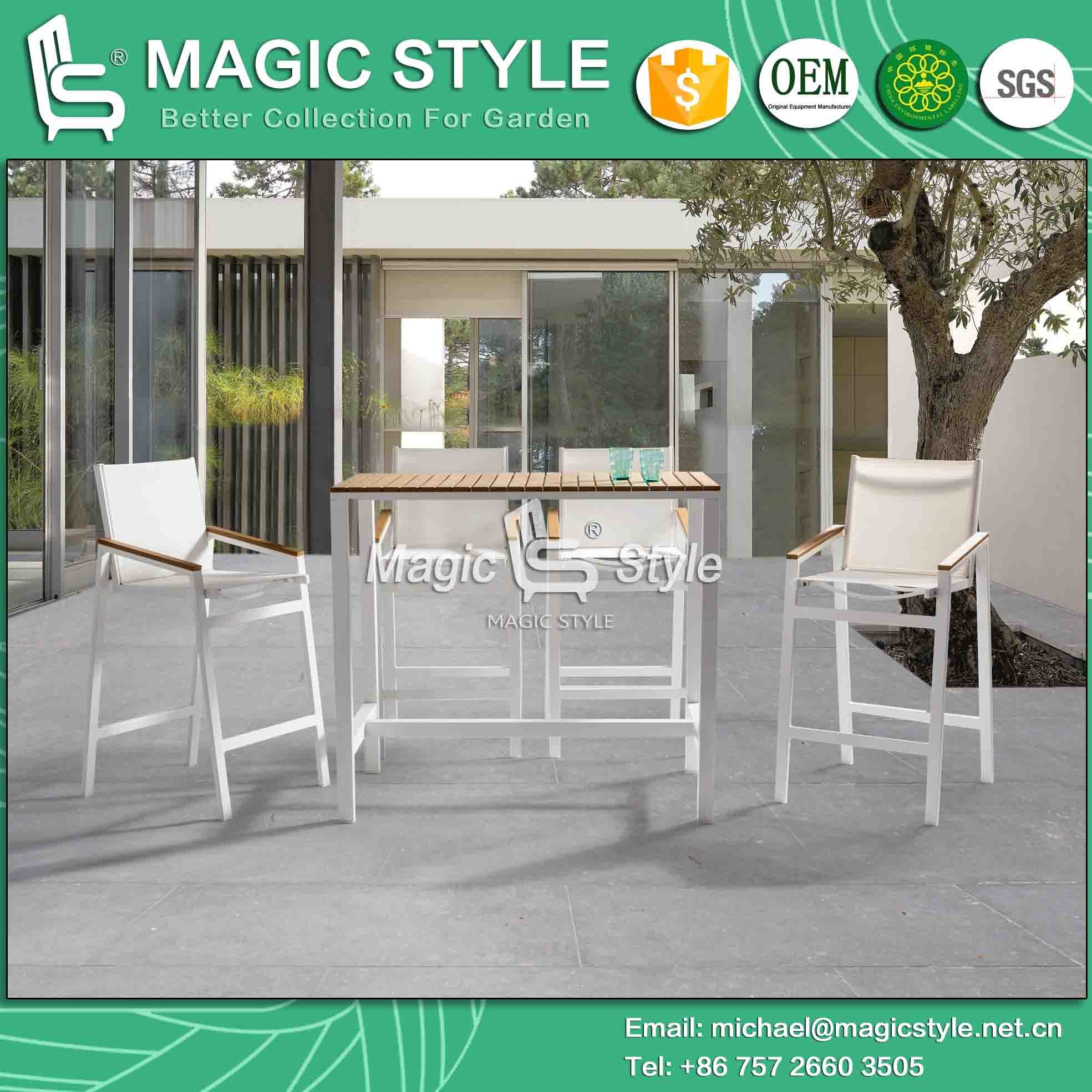 Cheap Interesting Outdoor Textile Bar Set Garden Bar Stool With Poly Wood  Coffee Sling Bar Table Aluminum Bar Set With Gartenbar Set With Bar Set Kche