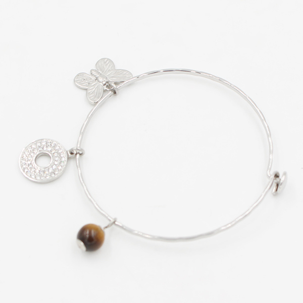 China Simple Wire Bangle with Custom Made Charms for Memories Gift ...