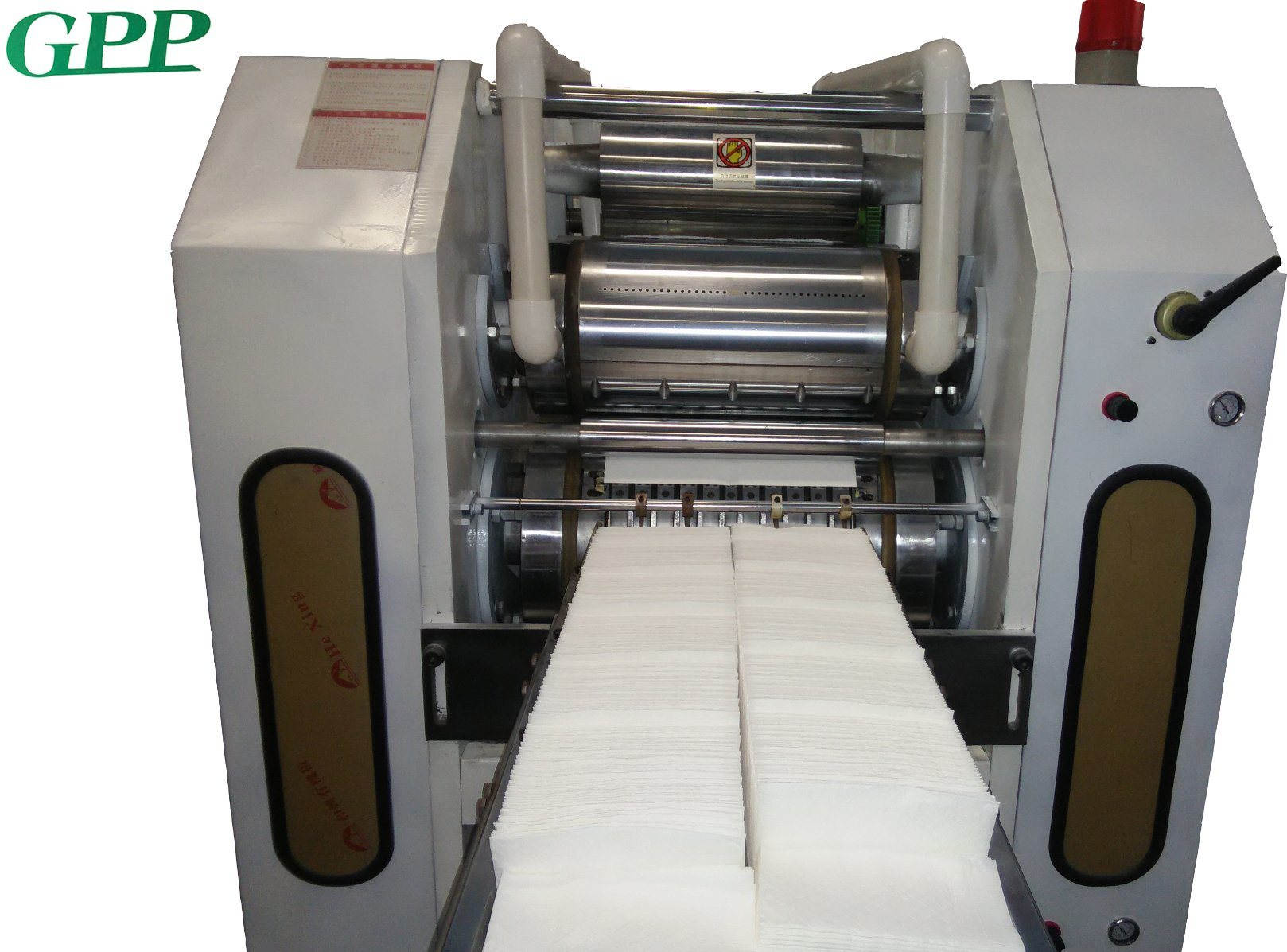 High Speed 2 Line 1/8 Folding Dinner Napkin Paper Machine pictures & photos