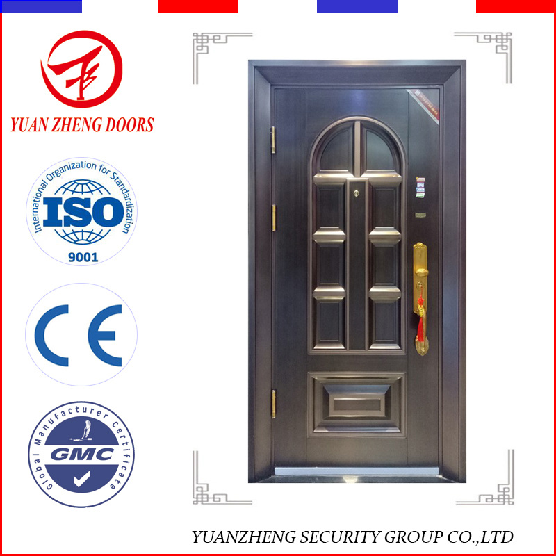 China Modern Interior Used Steel Metal Security Doors Residential