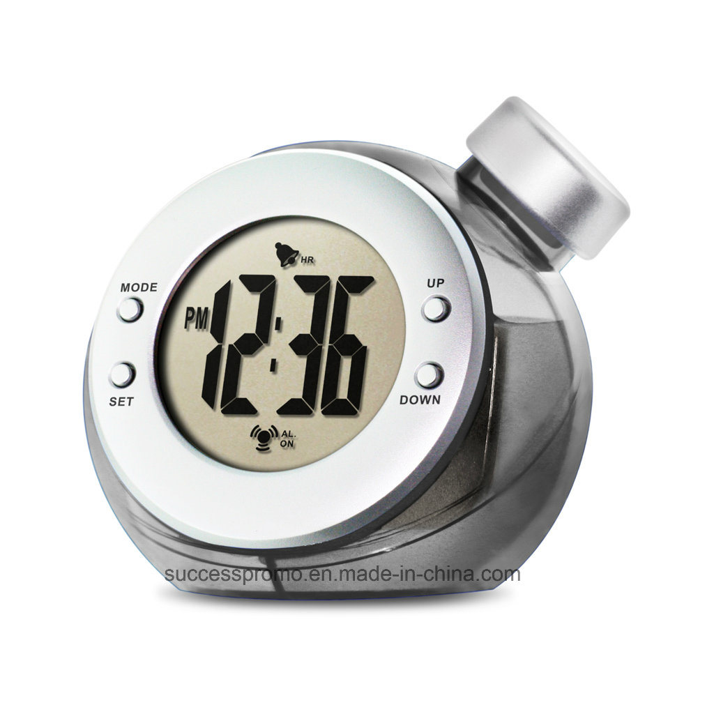 Water Powered Alarm Clock, Desk Clock, Table Clock
