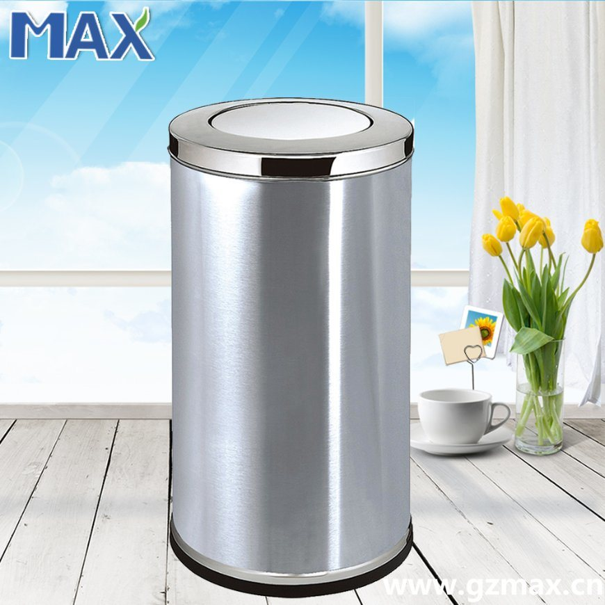 Hot-Sale Public Cheap Stainless Steel Swing-Lid Indoor Recycle Trash Bin pictures & photos