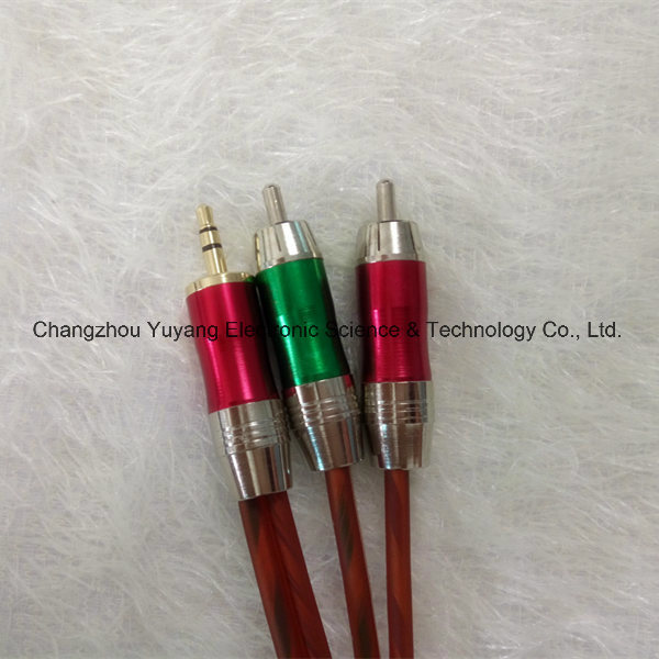 Hot 3.5 Stereo Plug to 2r Metal /AV Cable pictures & photos