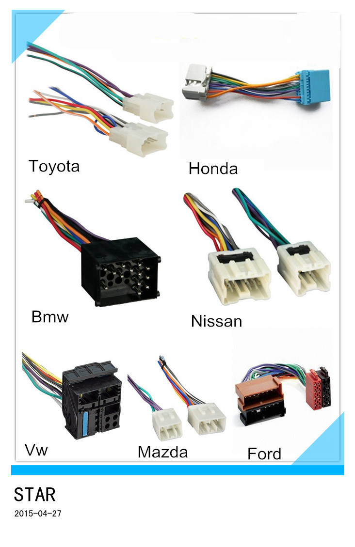China Factory Automotive Iso Wire Harness For Toyato Honda Bmw Nissan Different Brand Custom Adapter