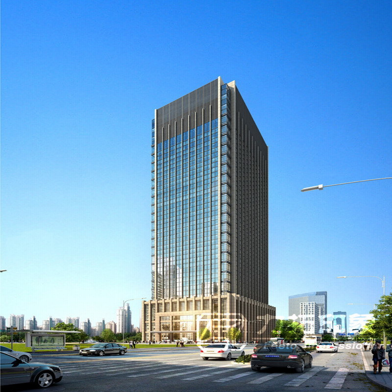 China Tall Commercial Buildings High Resolution Render