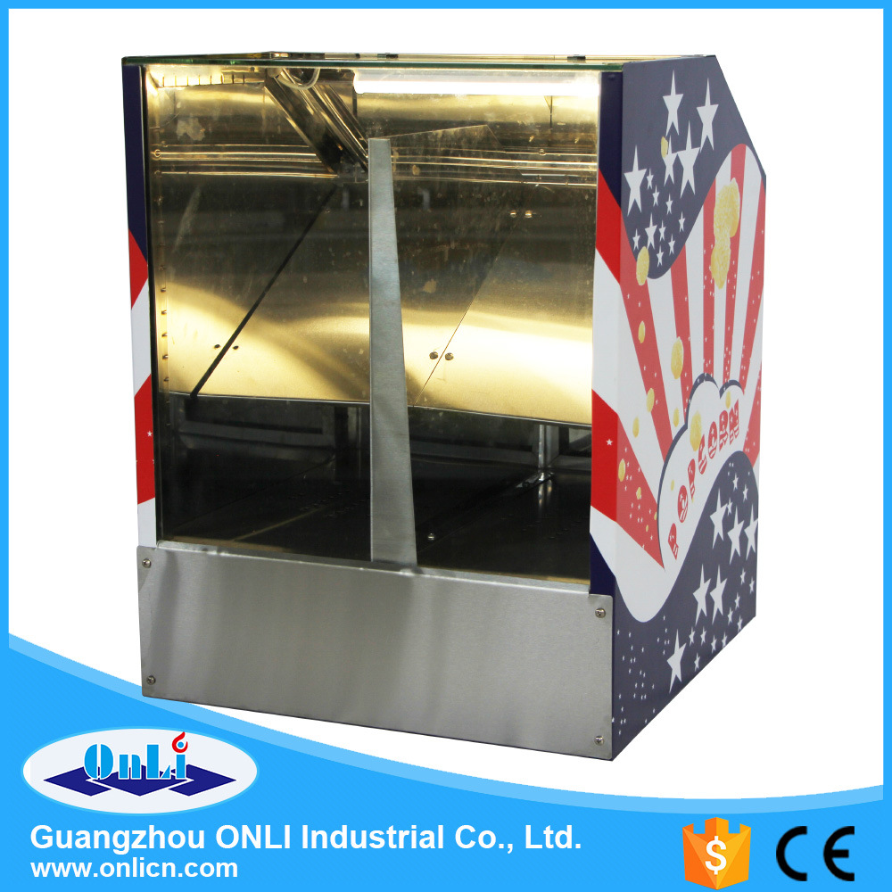 Commercial Hot Air Popcorn Warmer Showcase Machine - Two Food Area pictures & photos
