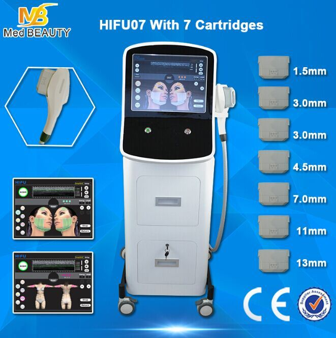 7 Cartridges Face Lift Wrinkle Removal Hifu Machine for Sale