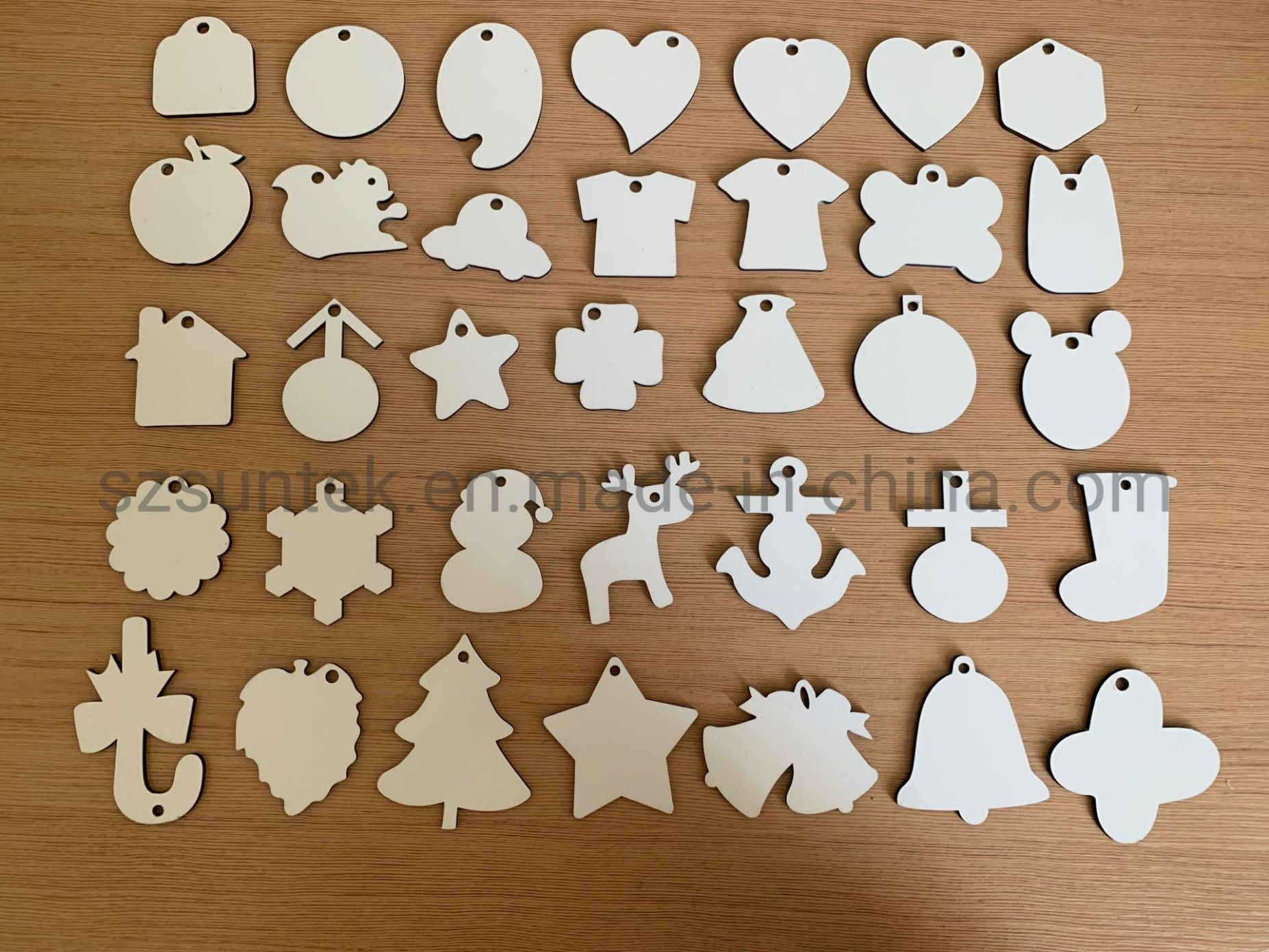 China Sublimation Blank Pendant MDF Christmas Ornaments