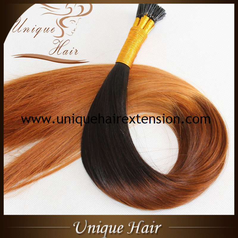 Hot Item Best European Remy Ombre Keratin I Tip Hair Extensions