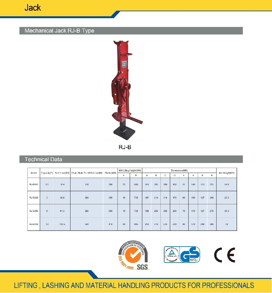 China Hand Mechanical Types Of Hydraulic Jack Diagram