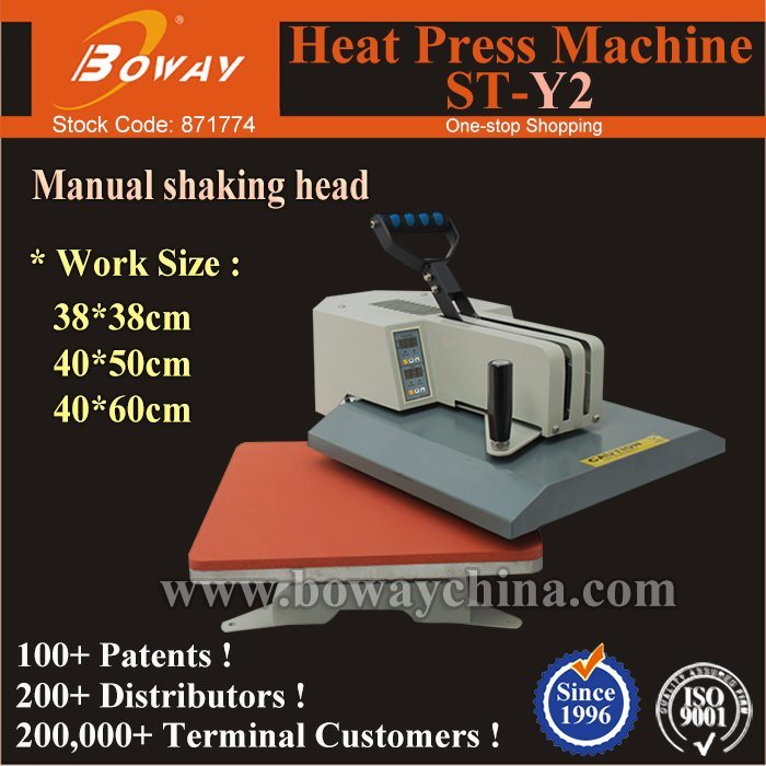 St-Y2 Manual Shaking Head 1 Station Plain Tshirt Clothing Heat Tansfer Press Printer pictures & photos