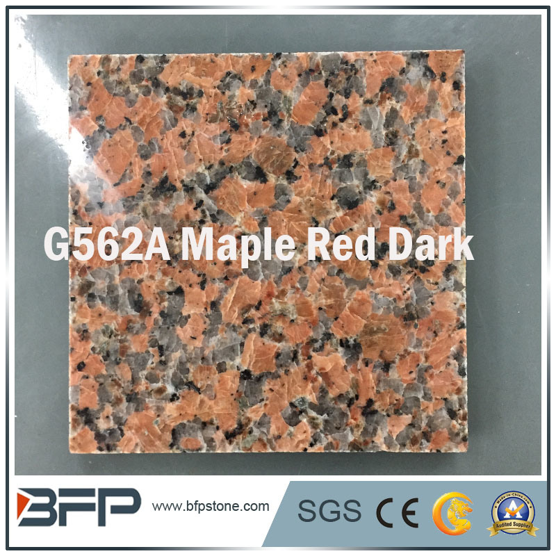 China Natural Polished Red Granitemarble Stone Flooring Tile For