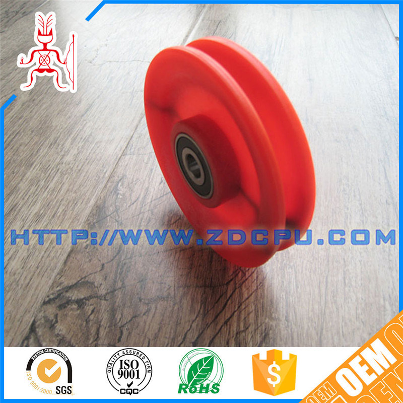 China Deep Groove PTFE Teflon Plastic Wire Rope Pulley Sheave with ...