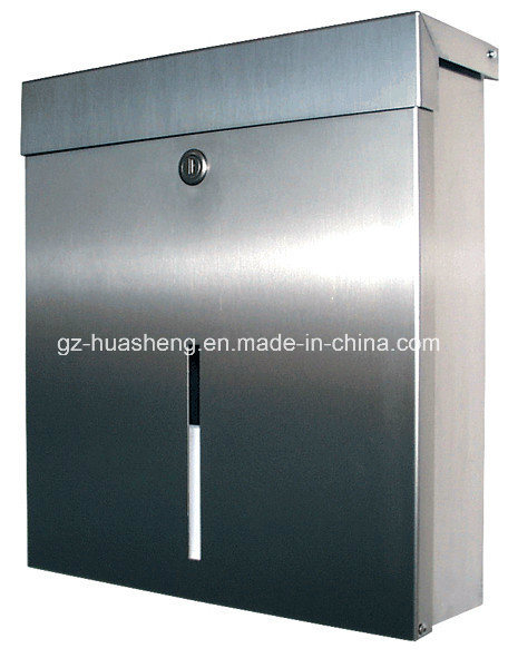 Indoor or Outdoor Stainless Steel Mailbox (HS-MB-013)