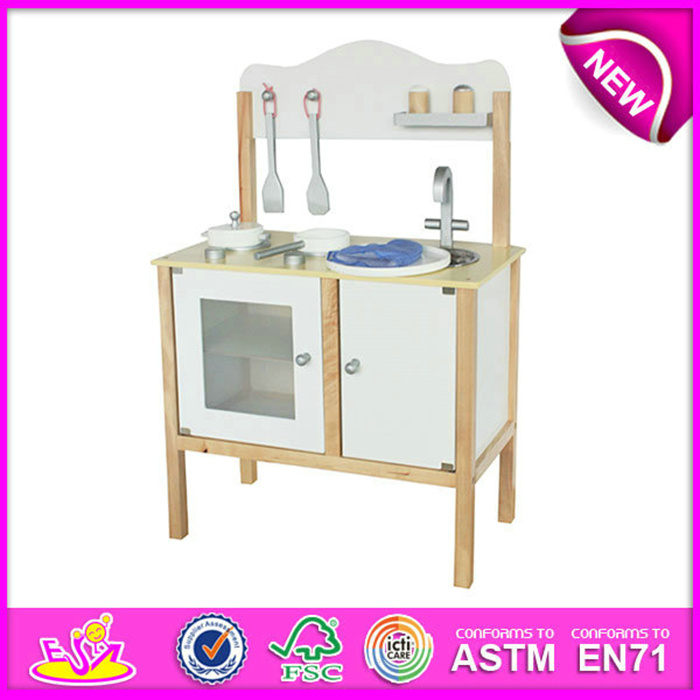 Hot Item 2016 New Design Wooden Kids Kitchen Sets Fashion Wooden Toy Kitchen Set Funny Toy Kitchen Set W10c127