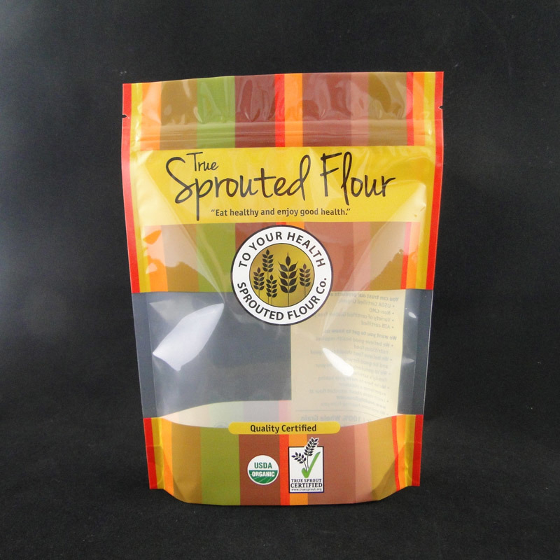 Custom Design Printed Plastic Food Packaging Bag with Clear Window (MS-FB011)