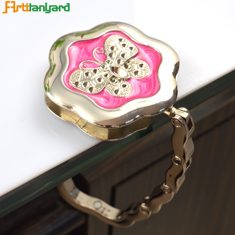 Bespoke Green Rhinestone Foldable Purse Hanger pictures & photos