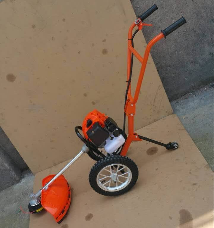 Double Hand-Pushed Brush Cutter Mower Trimmer