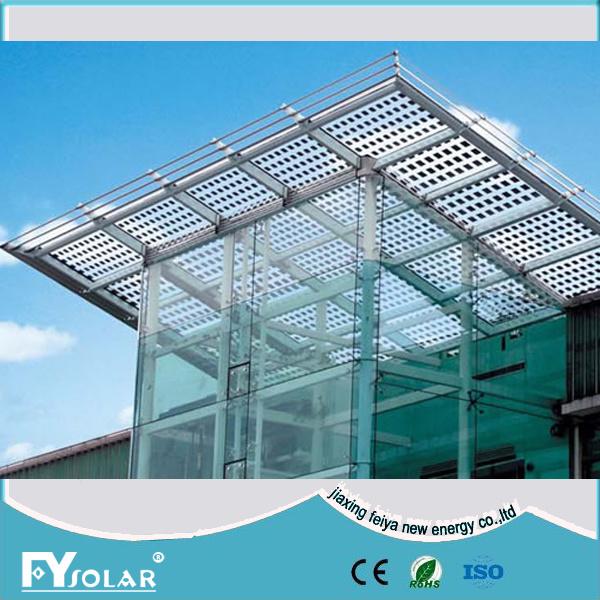China Transparent Double Glass Solar Panel 185w Bipv