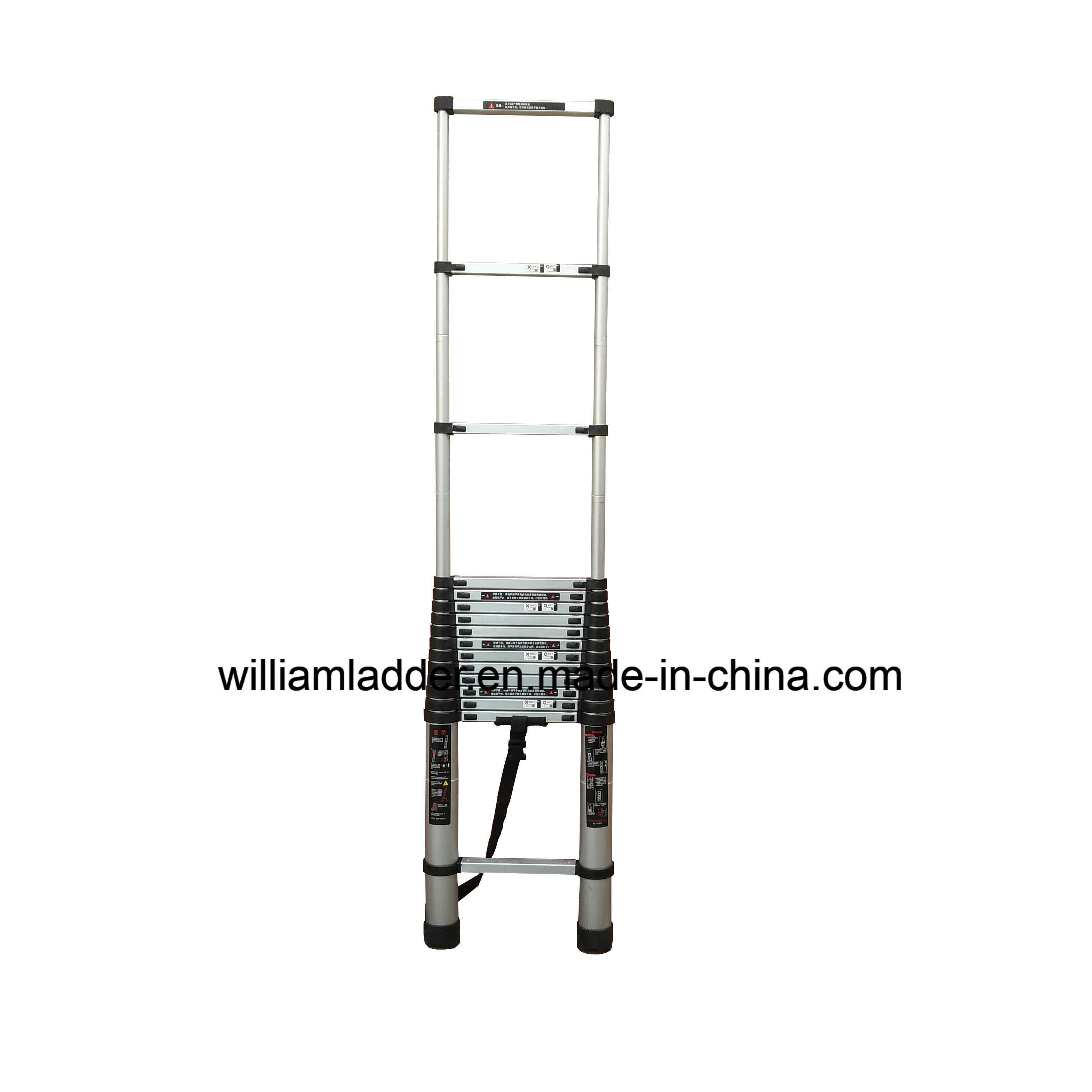 6.1m Single Telescopic Ladder Aluminum Foldable Stairs