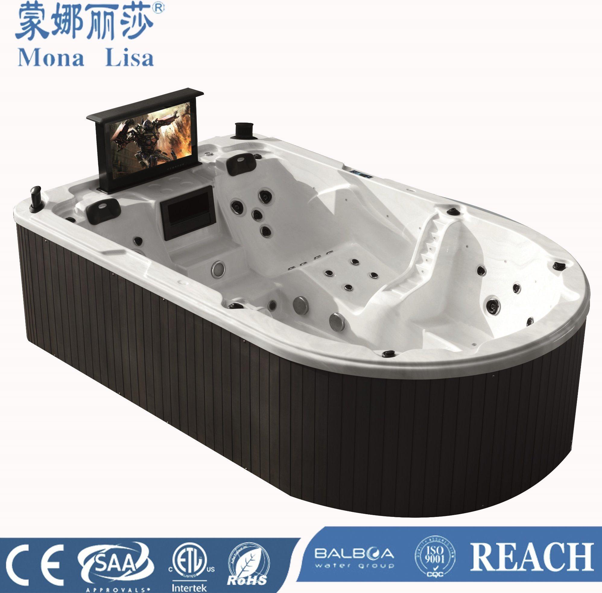 China Monalisa Luxury Ship Shape Whirlpool SPA Jacuzzi with TV (M ...