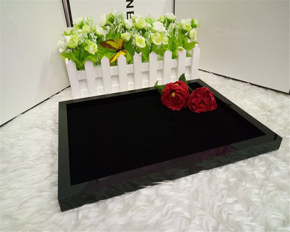 Black Acrylic Jewelry Box Desktop Storage Tray Makeup Organizer