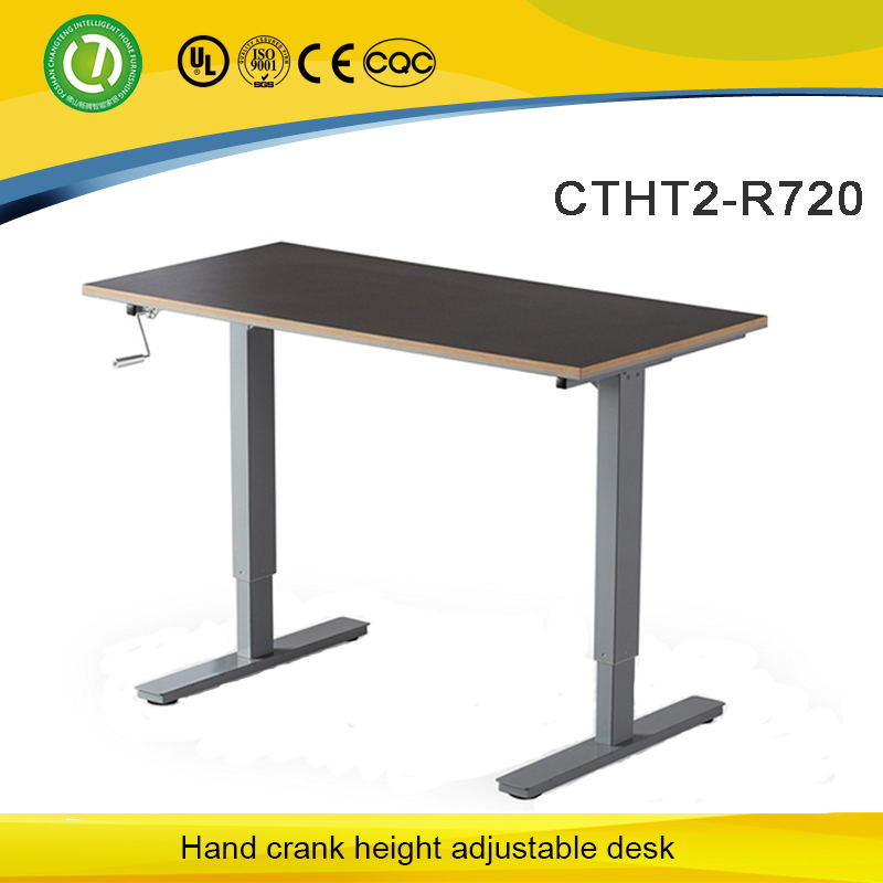 China Hand Crank Height Adjustable Desk To Sit And Stand   China Height Adjustable  Desk, Standing Desk