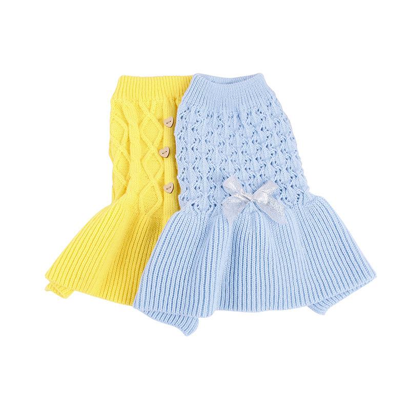 [Hot Item] Knitting Warm Cotton Cute Dog Clothes Jajamas Pet Sweaters