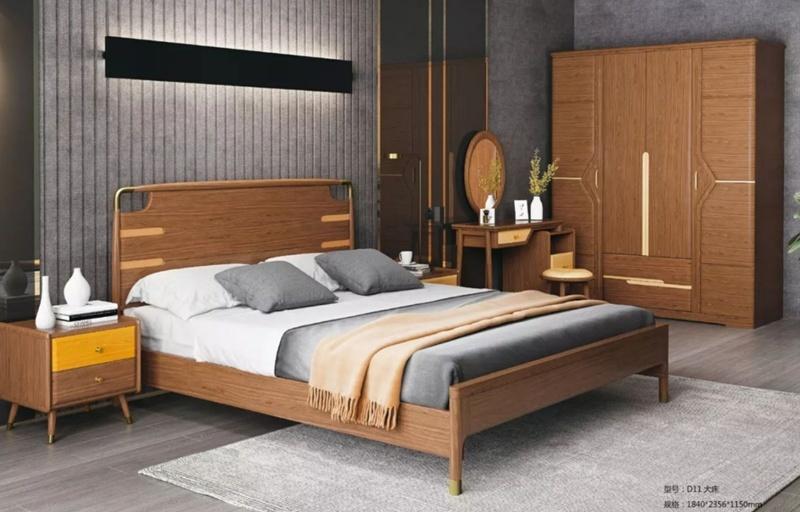Bed Design Furniture Bedroom Solid Wood