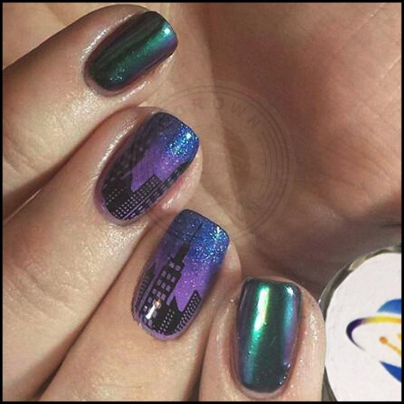 China Chameleon Galaxy Glitter Nail Art Design Pigment Powder ...