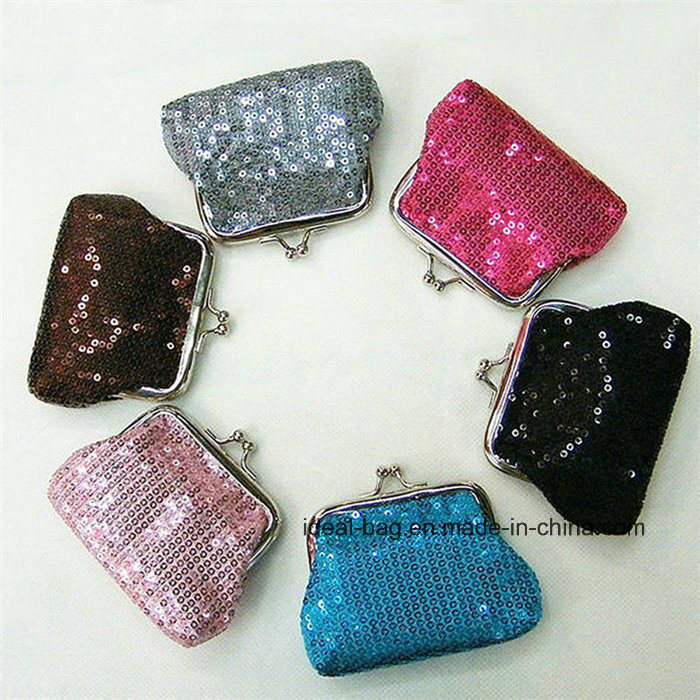 0697b5a78ee1 [Hot Item] Wholesale China Cheap Small Cute Kiss Lock Frame Sequin Woman  Evening Party Clutch Coin Purse