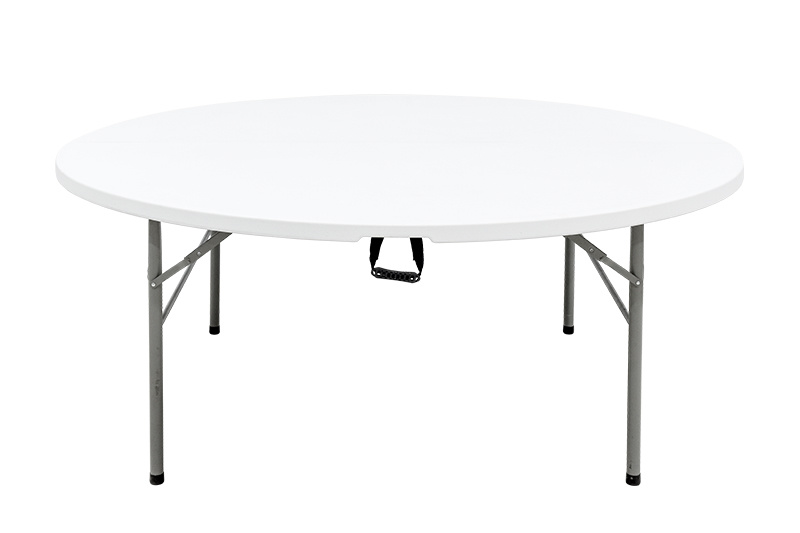 Half Folding Round Table 6ft China, Fold In Half Round Table